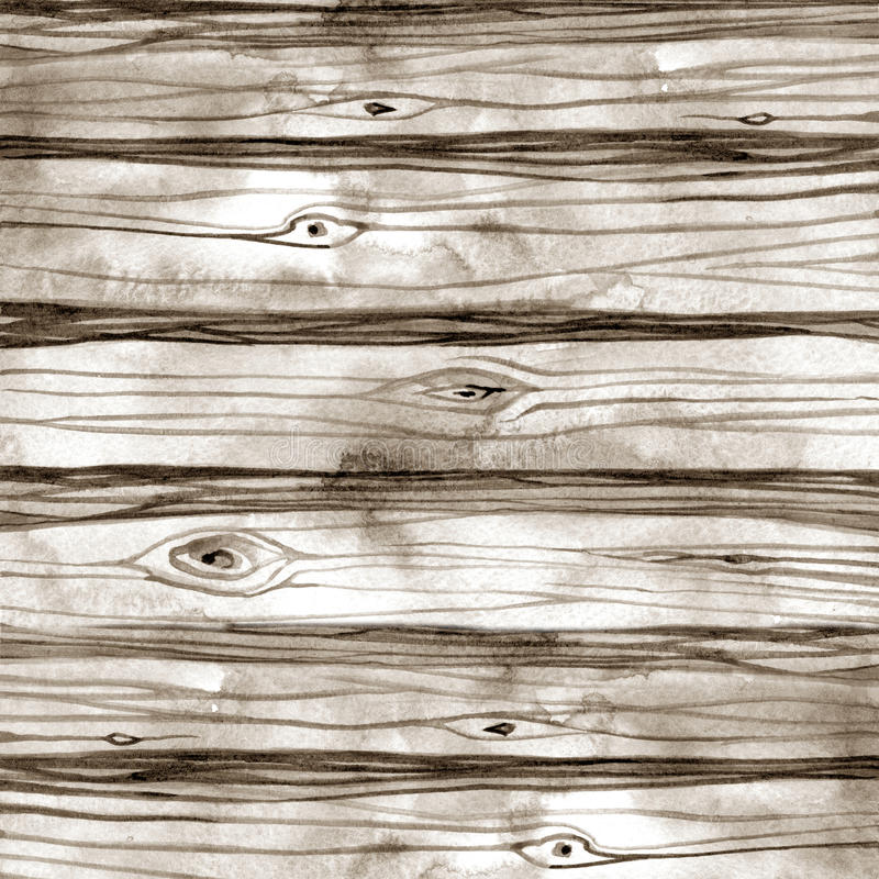 Watercolor wood texture background. Hand drawn illustration royalty free stock images