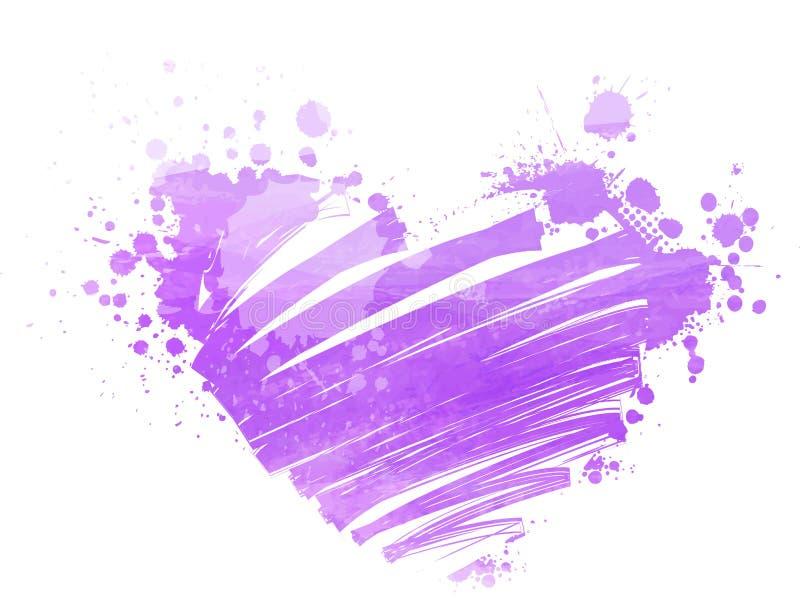 Watercolored-Herz vektor abbildung