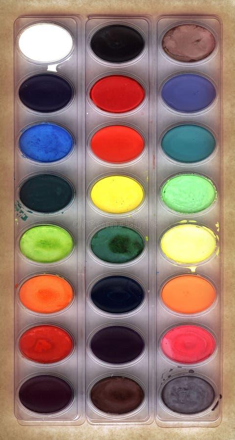Watercolors. A set of watercolor paints stock photos