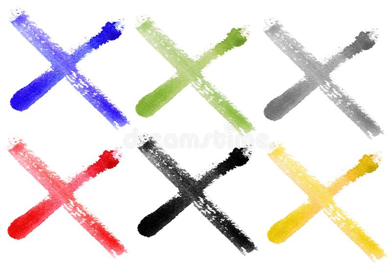 Watercolors check mark isolated on background. Hand drawn royalty free illustration