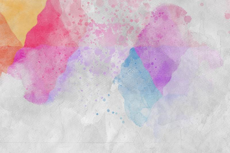 Watercolors Mark On Paper. CloseUp royalty free stock photos