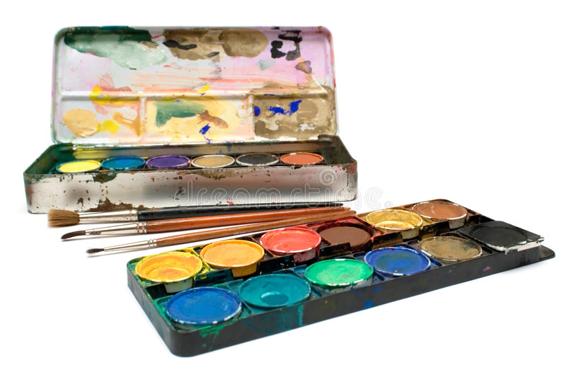 Download Watercolors Set stock photo. Image of artist, colour, create - 1918078