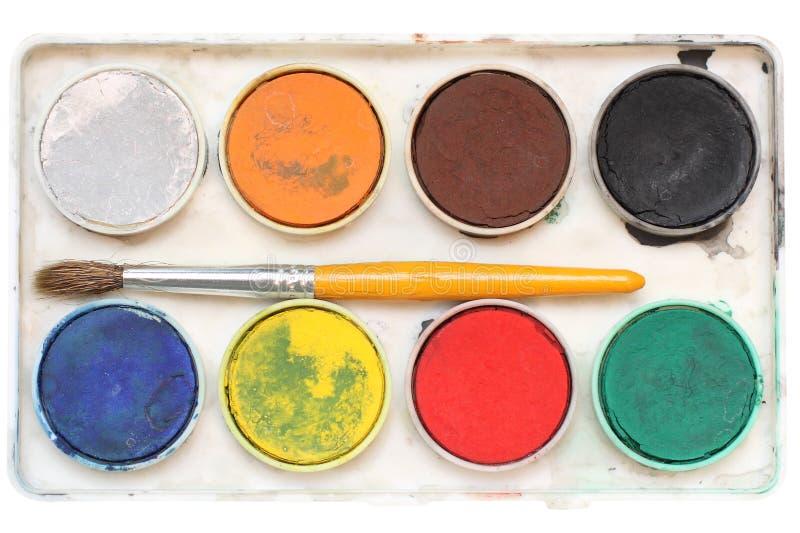 Download Watercolour stock photo. Image of study, silvery, orange - 10546936