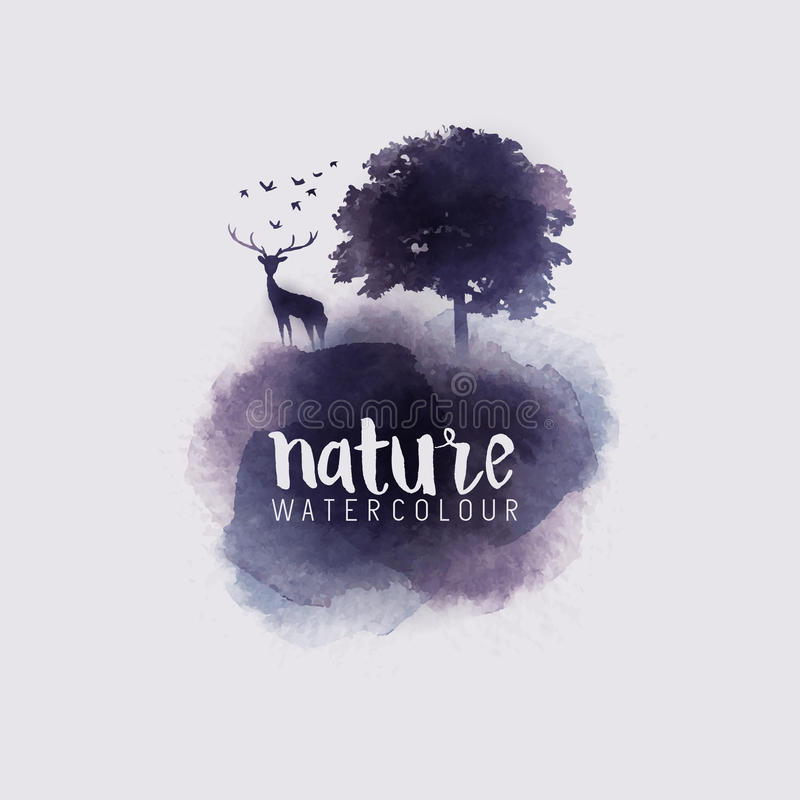 Watercolour Abstract Nature royalty free illustration