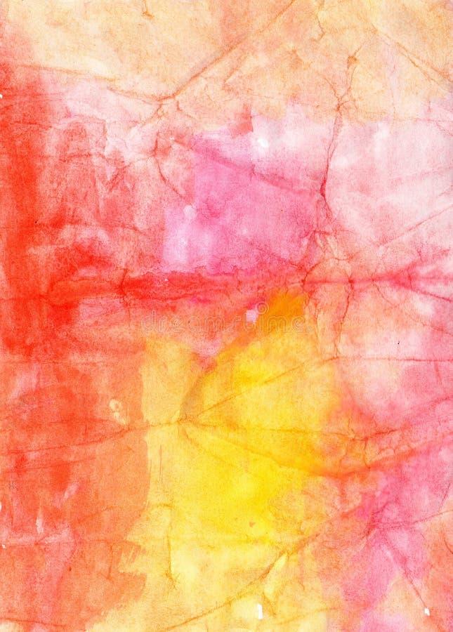 Watercolour abstract oud rood met de hand gemaakt het schilderen beeld voor desig royalty-vrije illustratie