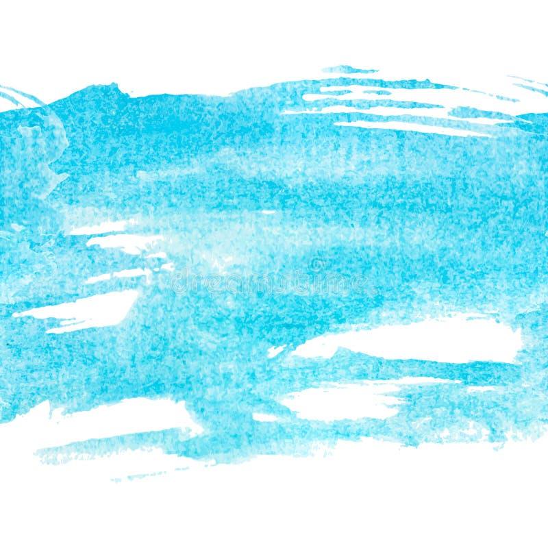 Watercolour azul claro de la turquesa ilustración del vector