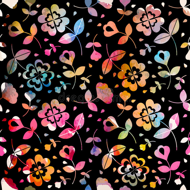 Watercolour bloemen naadloos patroon vector illustratie