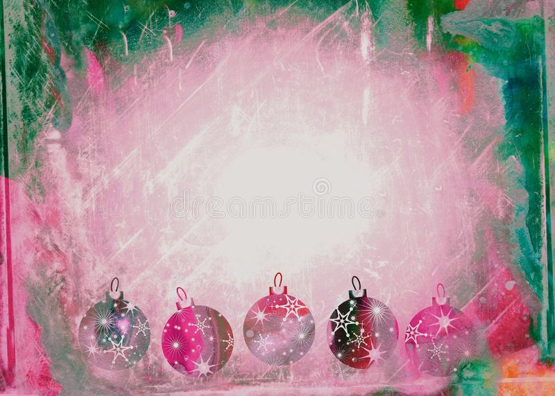 Watercolour Christmas Bauble Paper royalty free illustration