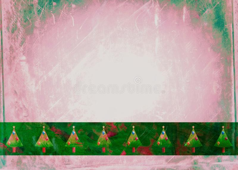 Watercolour Christmas Tree Paper royalty free illustration
