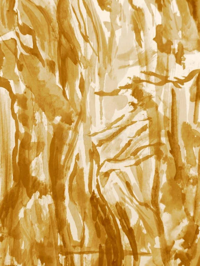 Watercolour dans la sépia 7 photo stock