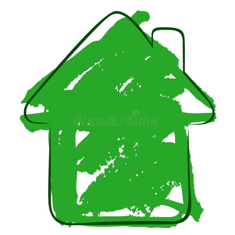 watercolour de maison de forme illustration de vecteur