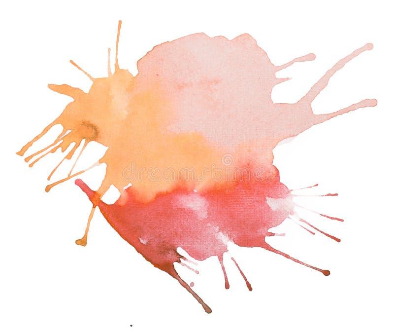 Watercolour del extracto del vintage/pintura retros coloridos de la mano del arte de la acuarela en el fondo blanco imagenes de archivo