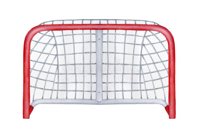 Watercolour drawing of goal sport equipment. royalty free stock photography