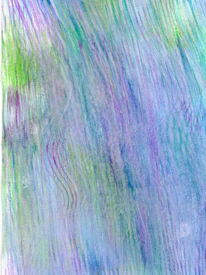 Watercolour handpainted, turkusowy, lily, różowy, jasnozielony, bleu obrazy royalty free