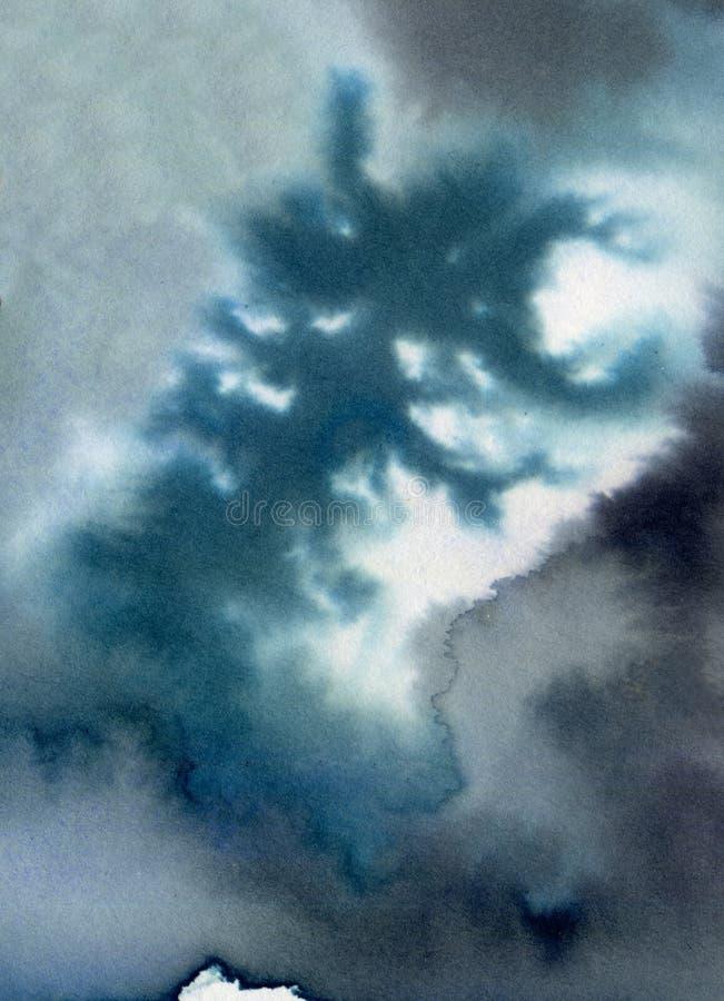 Watercolour naturalny fractal obrazy royalty free