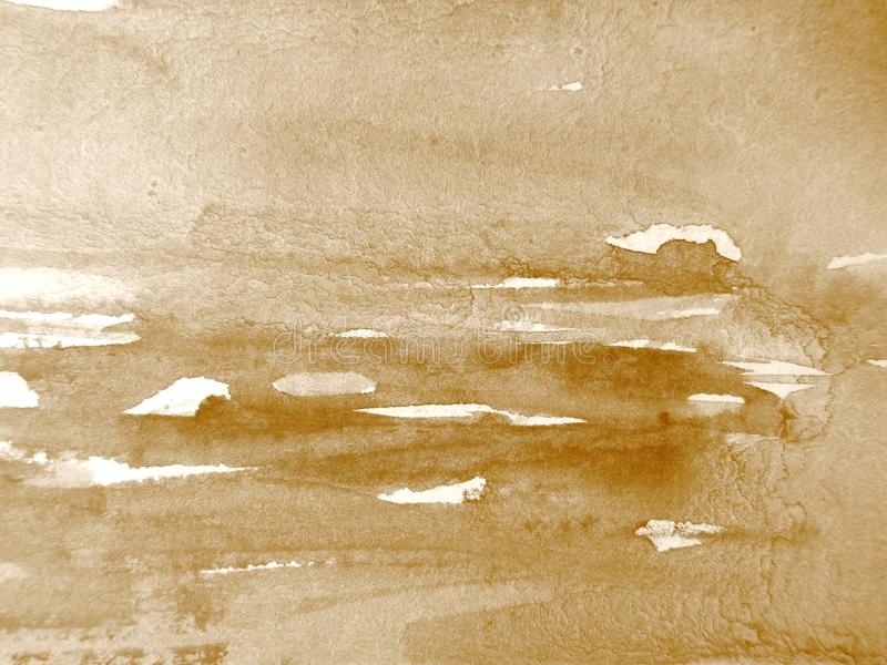 Watercolour no Sepia 2 imagem de stock royalty free