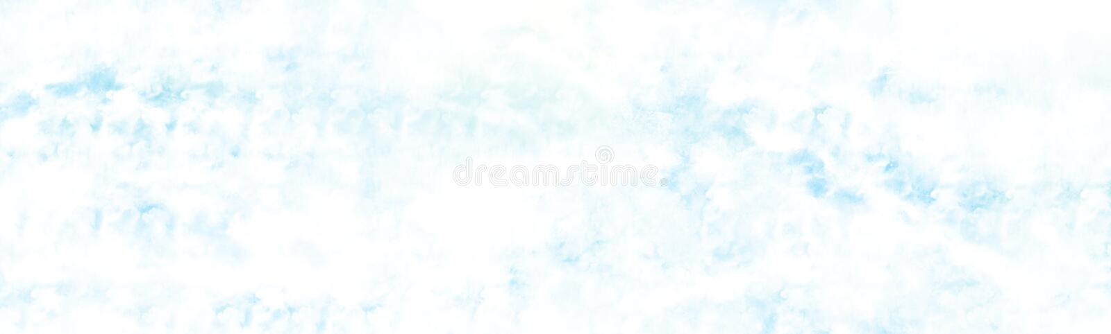 Overcast above the cloud watercolour painting. Watercolour painting blue sky overcast above the cloud in panorama view beautiful cloudscape for background royalty free stock photos