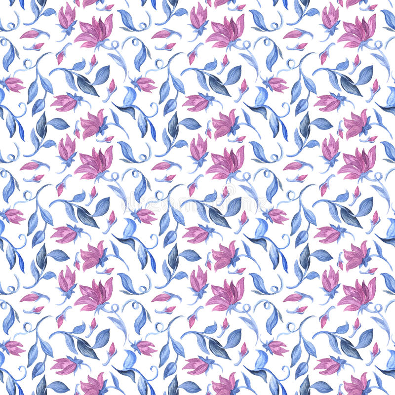 Watercolour seamless pattern. Abstract background vector illustration