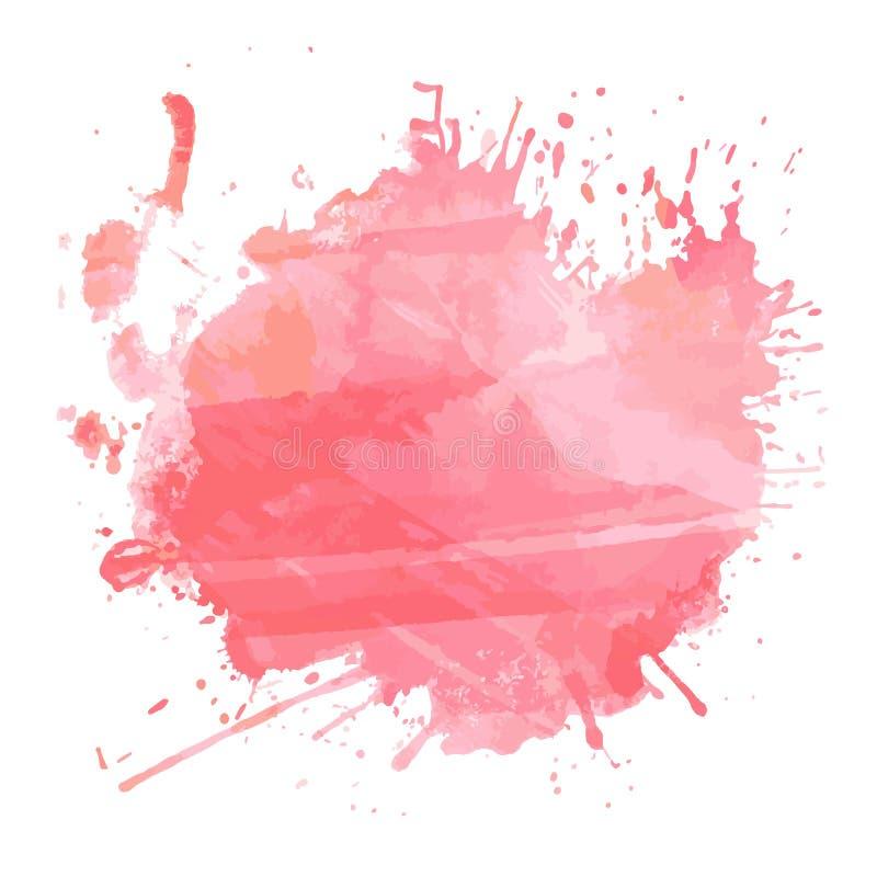 Watercolour splatter ελεύθερη απεικόνιση δικαιώματος