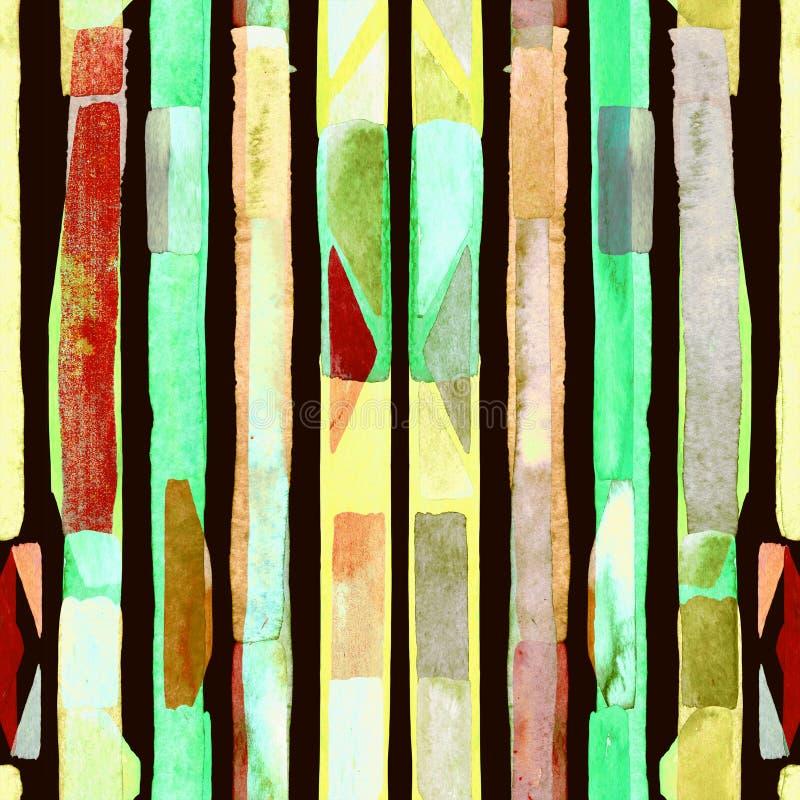 Watercolour stripe background. royalty free stock photos