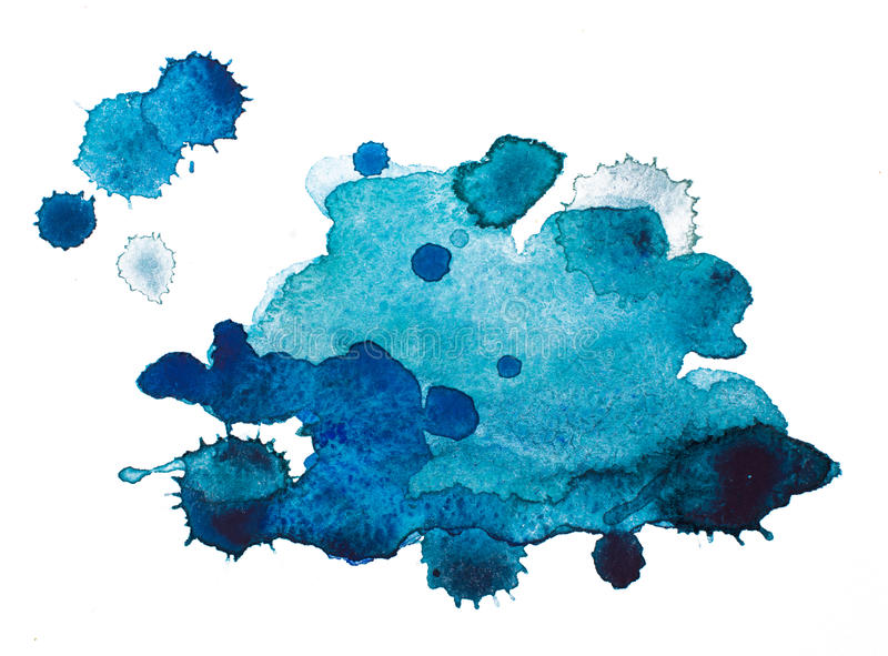 Watercolourflecken lizenzfreie stockfotos