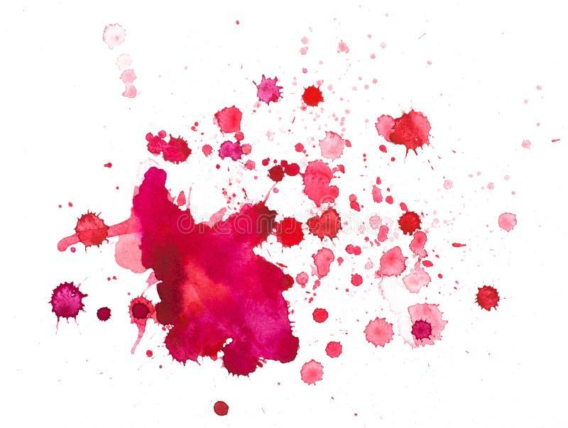 Watercolourflecken lizenzfreie abbildung