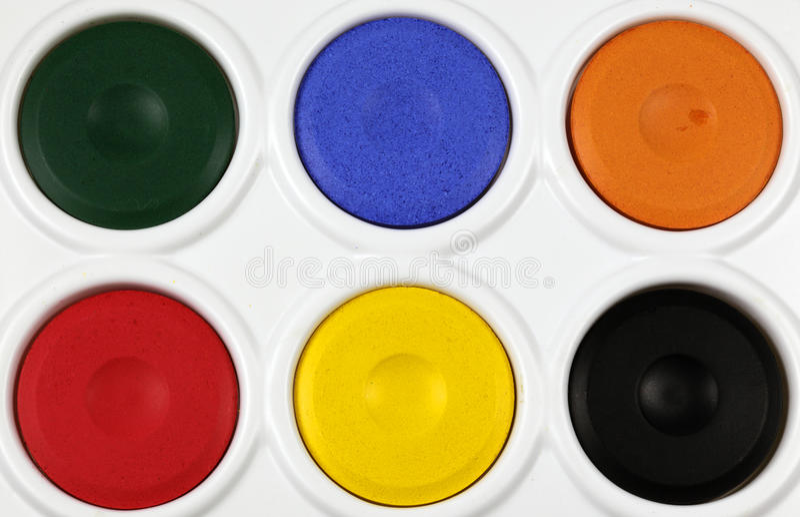 Watercolourlackpalette lizenzfreie stockfotos