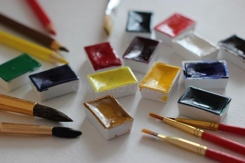 Water-colours / Watercolours royalty free stock photo