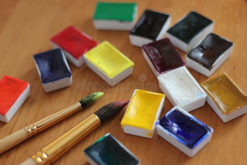 Watercolours stock photos