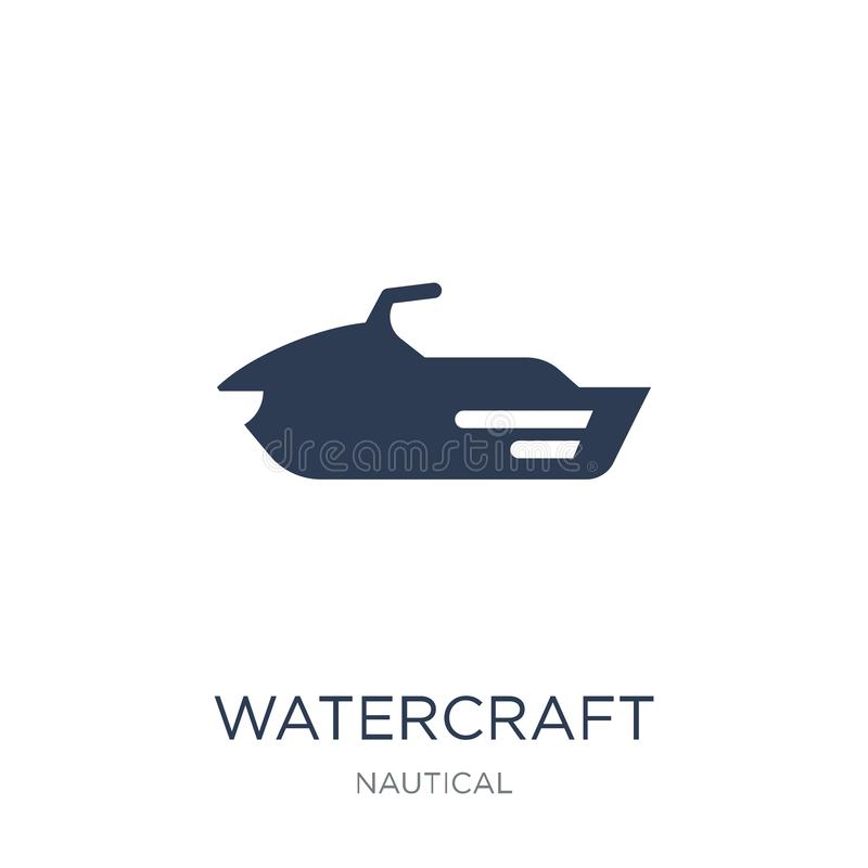 watercraft icon. Trendy flat vector watercraft icon on white background from Nautical collection royalty free illustration