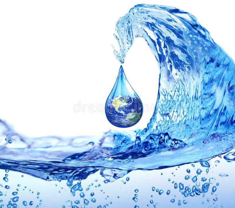 Waterdaling in de wereld vector illustratie
