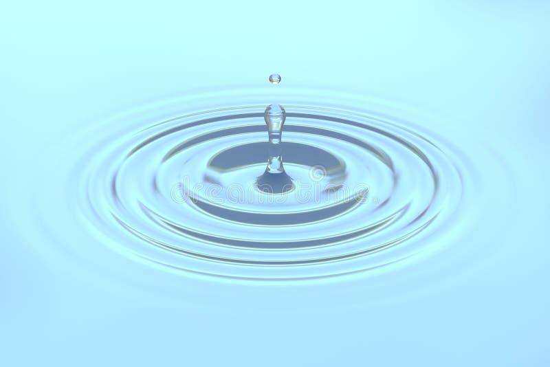 Waterdaling die op waterspiegelachtergrond vallen stock foto