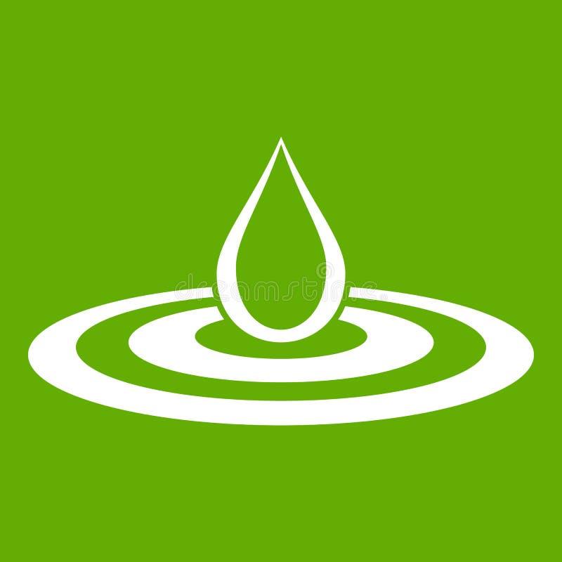 Waterdaling en groen morserijpictogram royalty-vrije illustratie