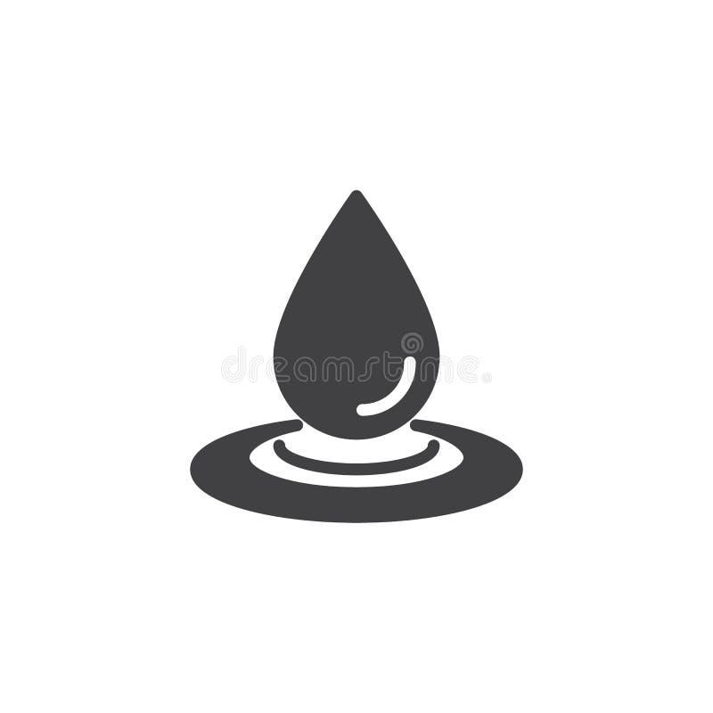 Waterdaling en morserij vectorpictogram vector illustratie