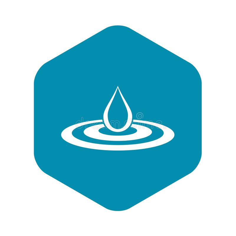 Waterdaling en morserijpictogram, eenvoudige stijl vector illustratie