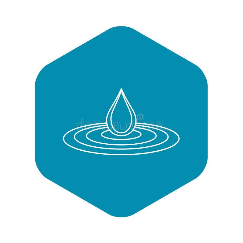 Waterdaling en morserijpictogram, overzichtsstijl royalty-vrije illustratie