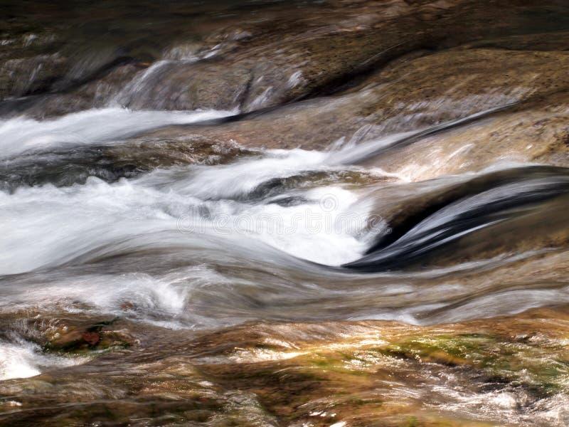 Waterdaling in lentetijd die in diep regenwoud wordt gevestigd royalty-vrije stock foto