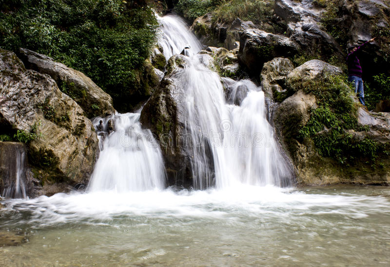 Waterdalingen royalty-vrije stock foto