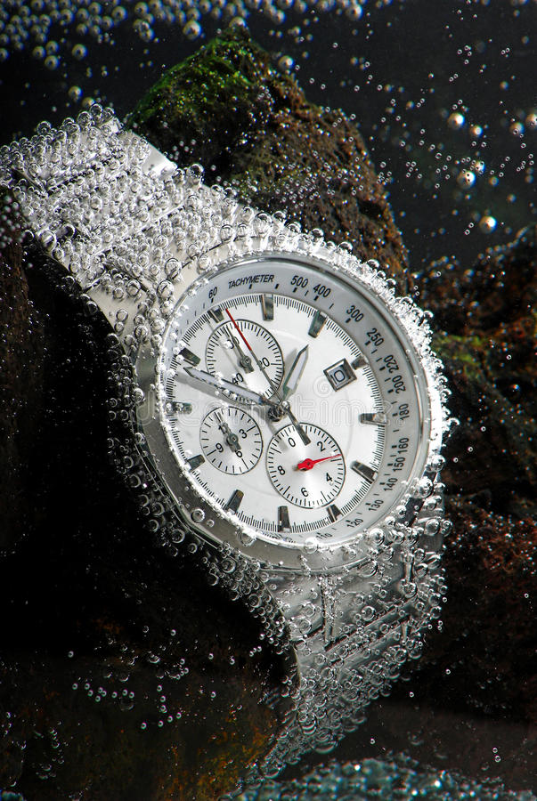 Waterdicht chronograafhorloge royalty-vrije stock foto