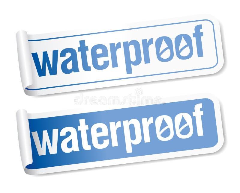 Waterdichte stickers. vector illustratie