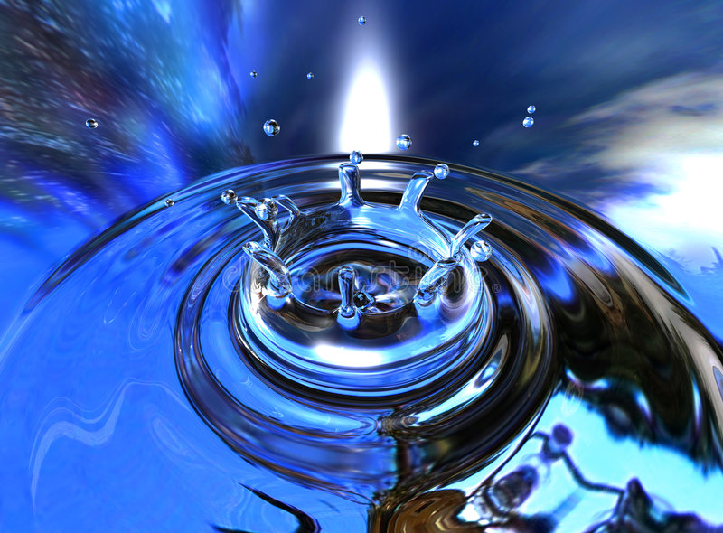 Waterdrop. 3D generated waterdrop royalty free stock images