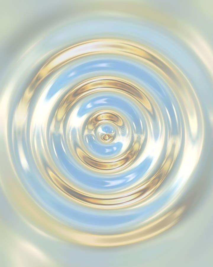 Waterdrop de chrome illustration stock