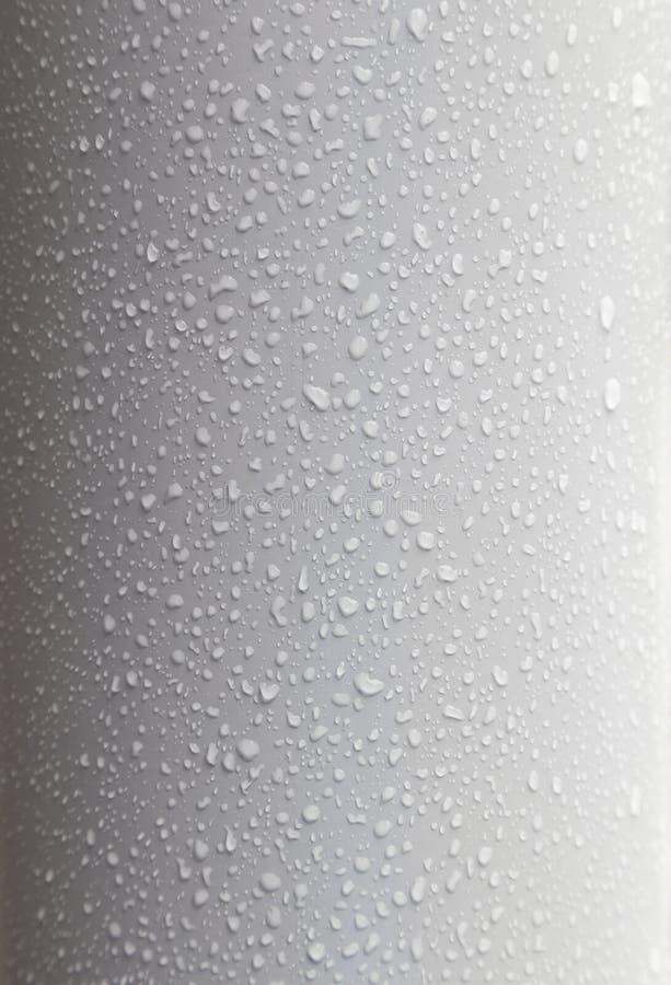 waterdrops特写镜头塑料表面上的 库存照片