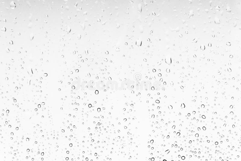 Waterdrops background on a window White texture of rain stock image