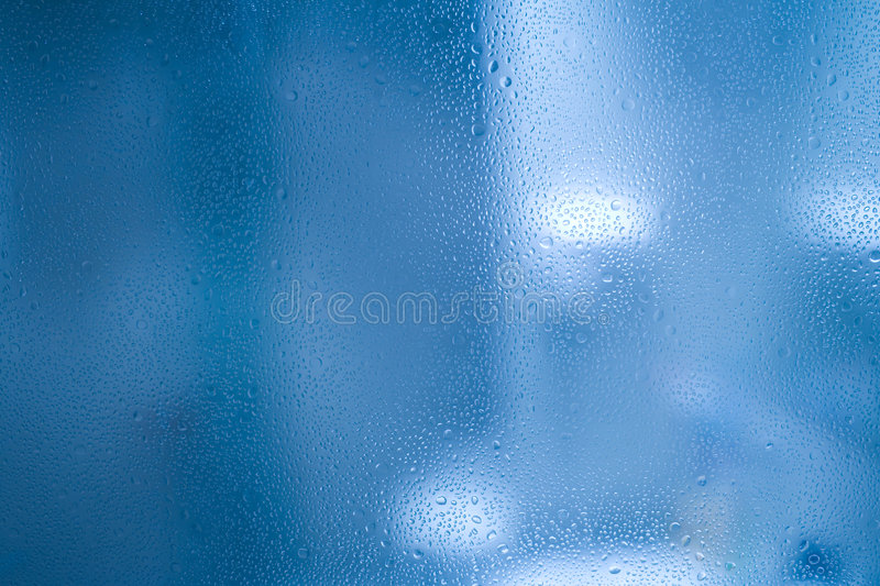 Waterdrops on glass royalty free stock image