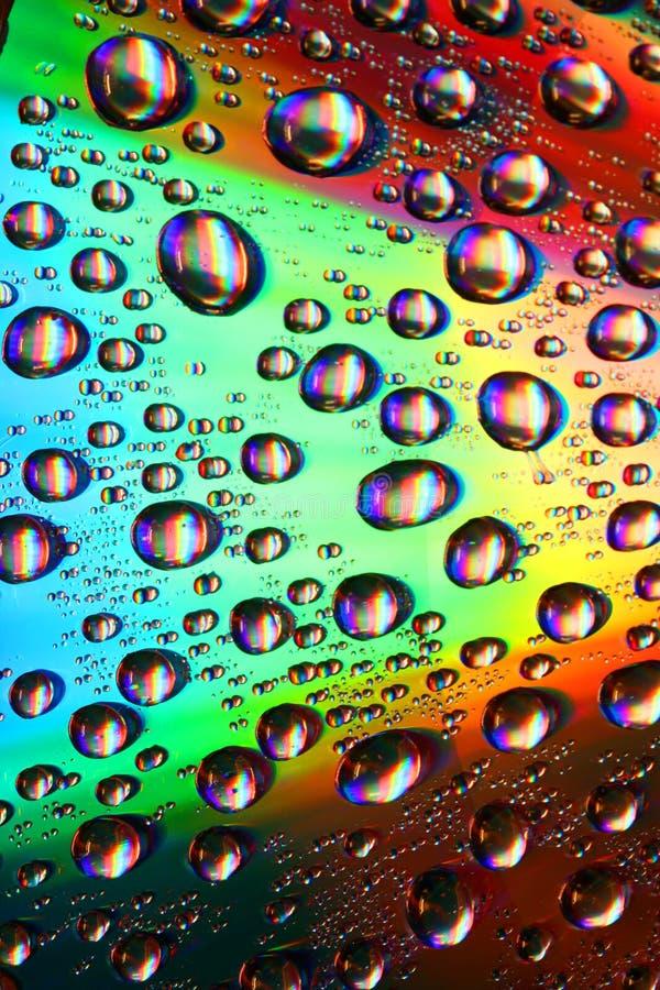 Waterdrops multicolori fotografia stock libera da diritti