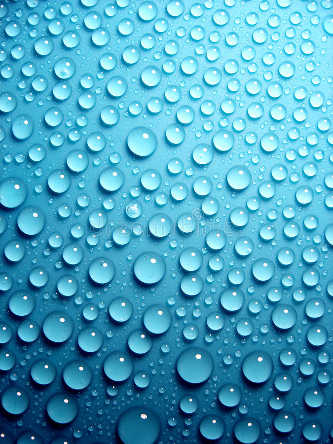 Free Waterdrops On Blue Stock Images - 2595464