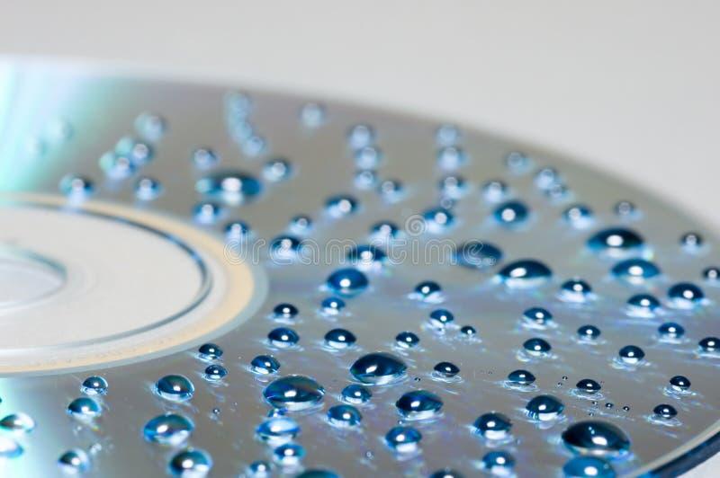 Waterdrops op CDachtergrond royalty-vrije stock fotografie