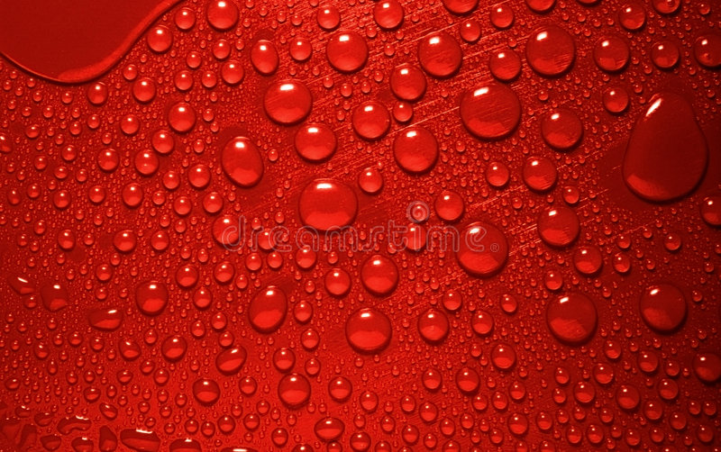 Waterdrops rouges photo libre de droits