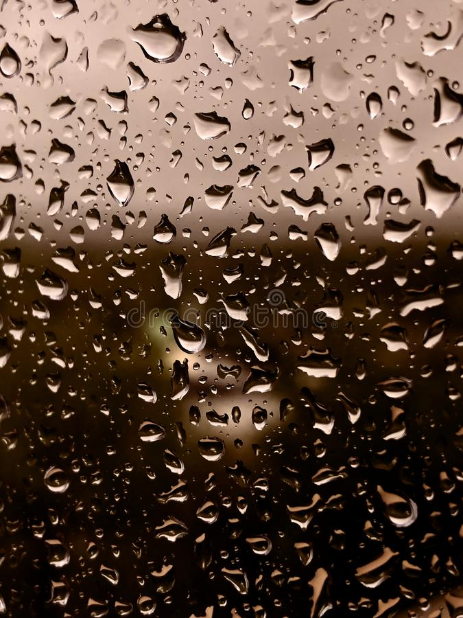 Waterdrops on a window. stock images